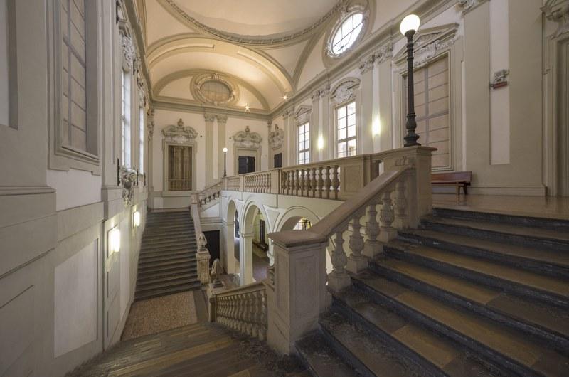 Palazzo Marescotti Brazzetti, Giovan Giacomo Monti, Scalone (ph. ©Antonio Cesari)